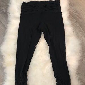 lululemon athletica Pants - Lululemon yoga pants with ruched waste band